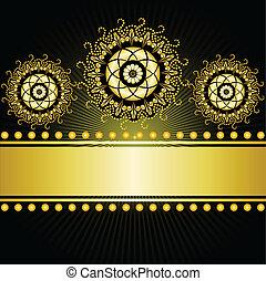 gilded border on a black background - gilt border with...