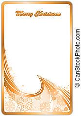 Gilded Christmas Card