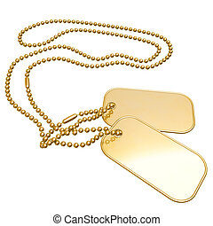 Gilded Dog Tags 3D