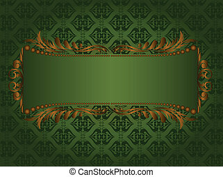 gilded frame on the green