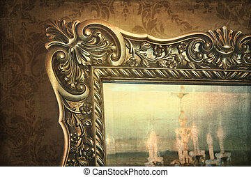 Gilded mirror reflection