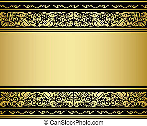 Gilded ornmaments and patterns with flourish elements for design
