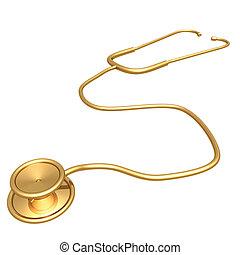 Gilded Stethoscope 3D