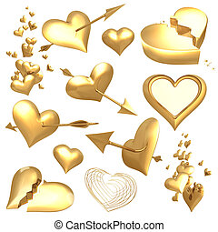 Gilded Valentines 01 - gilded valentines objects 3d