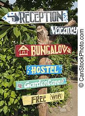 gili, バリ, 自然, 空気, 背景, サイン, 島, ホステル