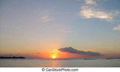 Gili Meno island sunset timelapse