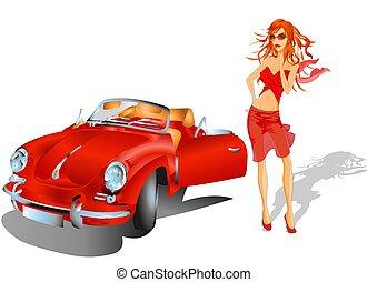 Gilr with Porsche