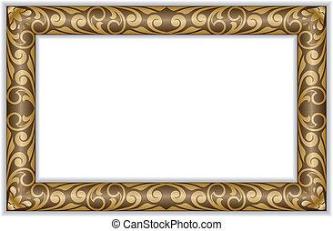 Gilt frame - rectangular gilt frame in the old style