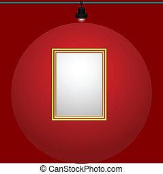Gilt-framed blank painting