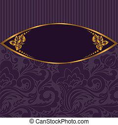 gilt vignette on purple