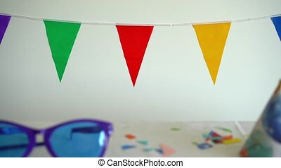 gimbal, ściana, po, wstecz, urodziny, dziecko, stół,...