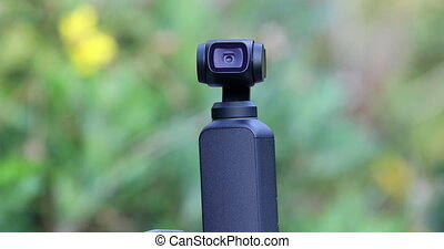 Gimbal Head Of The Camera - Closeup Of Small Gimbal Camera,...