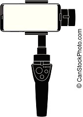 gimbal stabilizer for smartphone camera vector eps 10