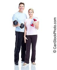 gimnasio, condición física, forma de vida sana