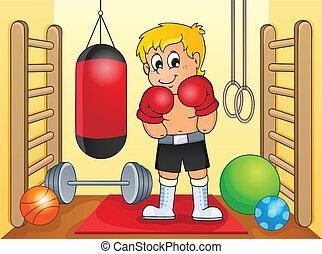 gimnasio, deporte, tema, imagen, 6