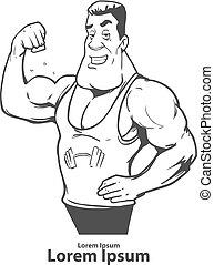 gimnasio, entrenador, potencia