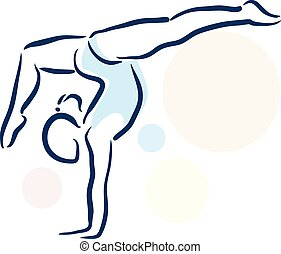 gimnasta, girll