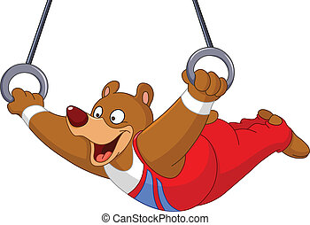 gimnasta, oso