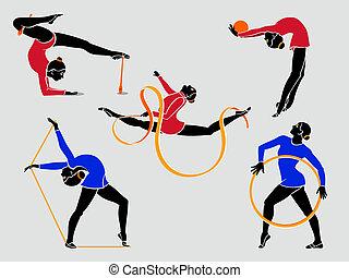 gimnastas rítmicos