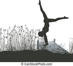 gimnastyk, molo