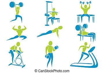 ginásio, atividade