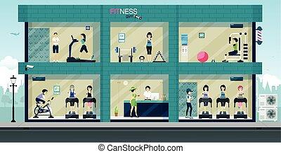 ginásio, condicão física