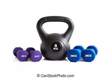 ginásio, exercite equipamento
