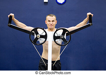 ginásio, treinamento, condicão física