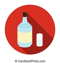 Gin icon in flat style isolated on white background. Alcohol symbol stock vector illustration.