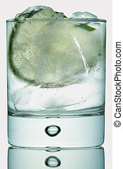 Gin tonic on white - Gin tonic isolated on white