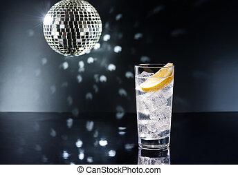 gin, tonikum, tom, oder, collins