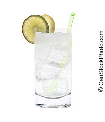 gin, vodka, tonique, cocktail, ou