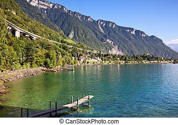 ginevra, lago, in, svizzera