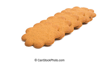ginger biscuit flower isolated