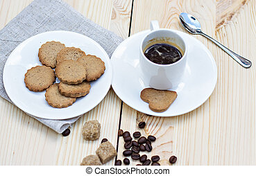 ginger biscuits and coffee