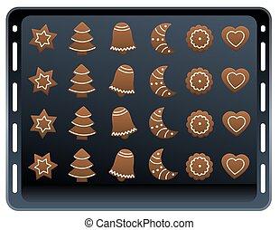 Ginger Bread Cookie Baking Plate - Twenty four gingerbread...