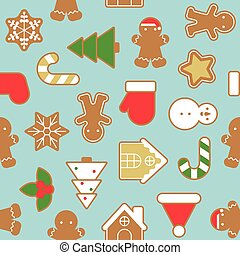 Ginger bread cookie in various shape , background for...