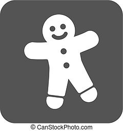 Ginger Bread - Gingerbread, christmas, baked icon vector...
