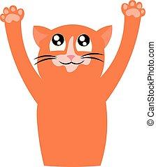 Ginger cat. Pet. Cute animal.