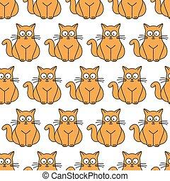 ginger cat seamless pattern
