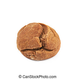 Ginger cookie isolated