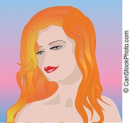 Ginger enchantress - Beautiful woman with ginger hair