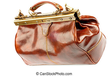 Traveling Bag - Ginger Expensive Leather Traveling Bag with...