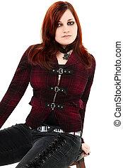 Ginger Goth Teen Beauty