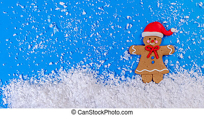 ginger man in the snow
