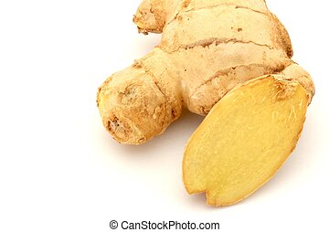 Ginger on White Background