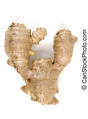 Ginger Root (Zingiber Officionale), isolated, 12MP camera.