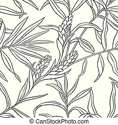ginger seamless pattern