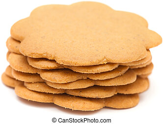 ginger snap biscuit isolated on white