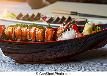 ginger., sushi, barca